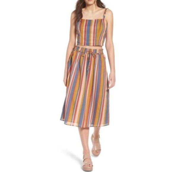 c3adb29185 June & Hudson Skirts | June Hudson Smocked Midi Skirt Rainbow ...